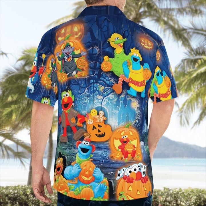 Halloween in sesame street hawaiian shirt 2
