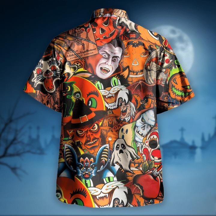 Halloween is coming to town hawaiian shirt 1