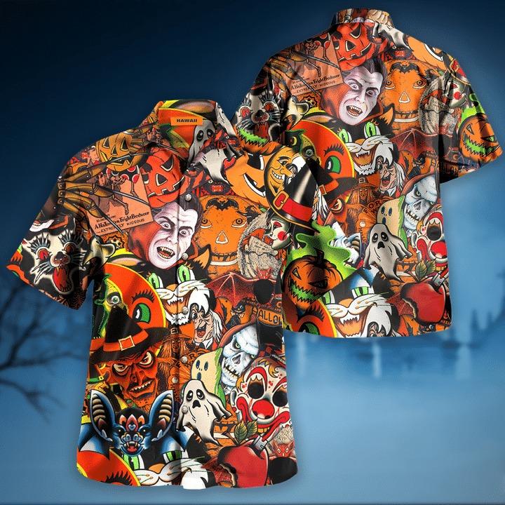 Halloween is coming to town hawaiian shirt 2