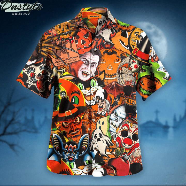 Halloween is coming to town hawaiian shirt