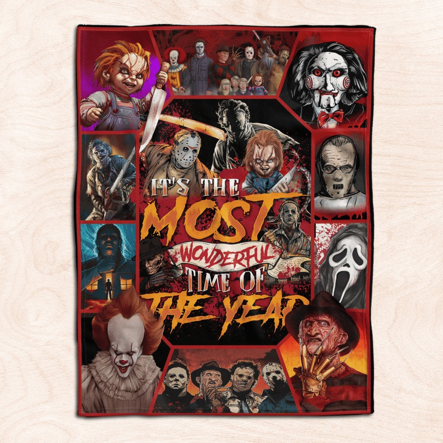 Halloween it's the most wonderful time of the year fleece blanket 1