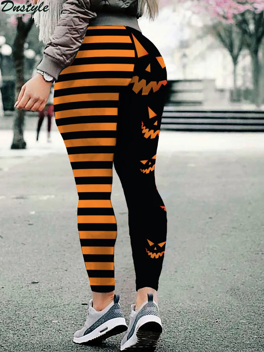 Halloween pumpkin leggings