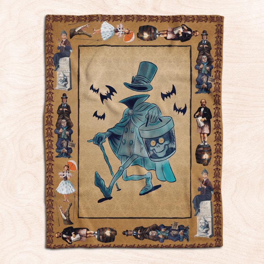 Hatbox ghost fleece blanket 1