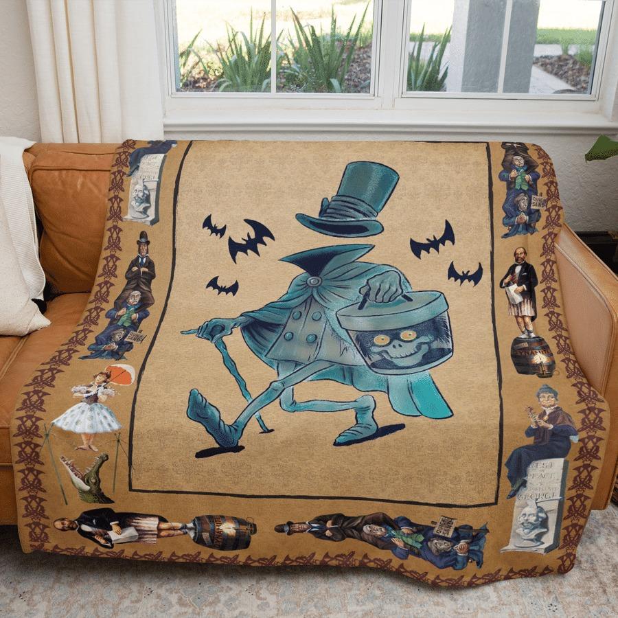 Hatbox ghost fleece blanket 2
