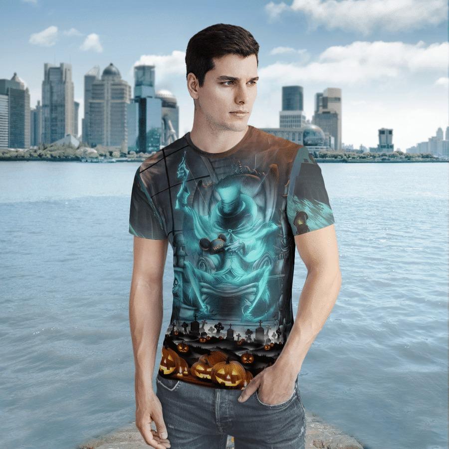 Hatbox ghost halloween 3d t-shirt 1