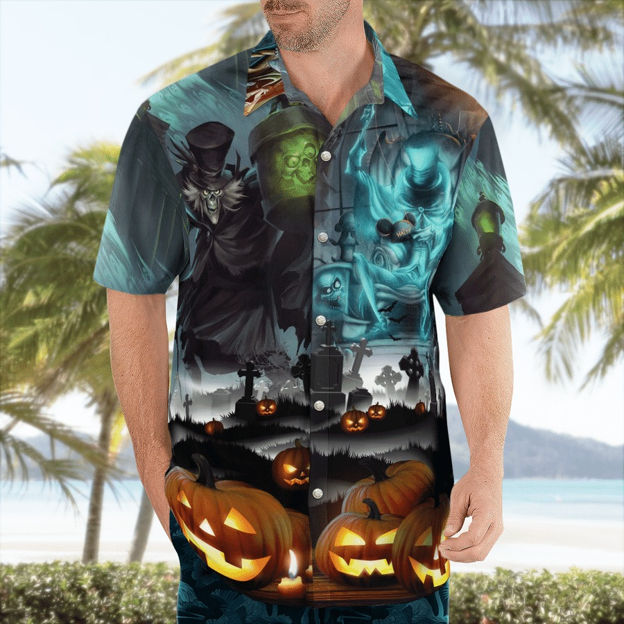 Haunted mansion halloween hawaiian shirt 1