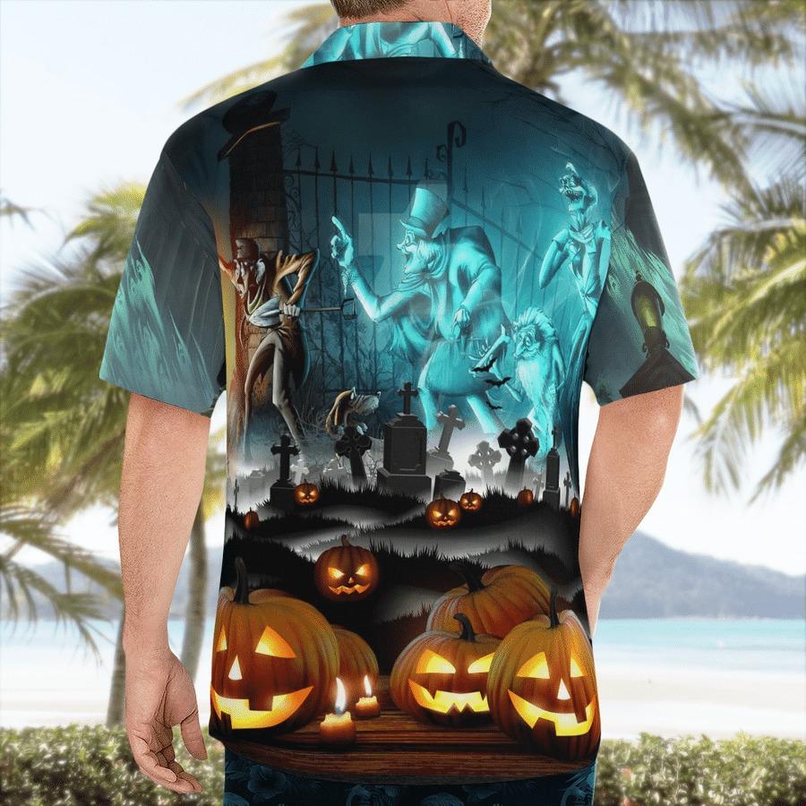 Haunted mansion halloween hawaiian shirt 2