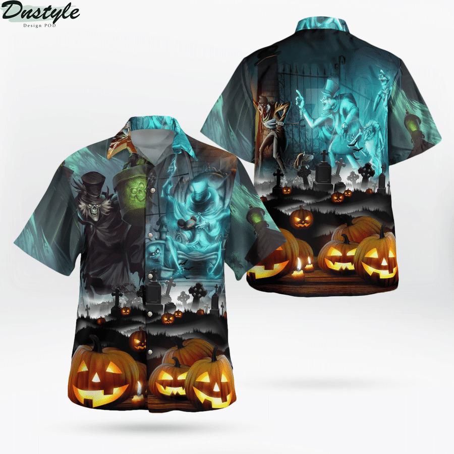 Haunted mansion halloween hawaiian shirt