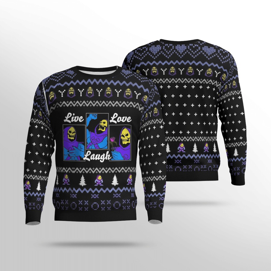 He-Man live love laugh ugly sweater 2