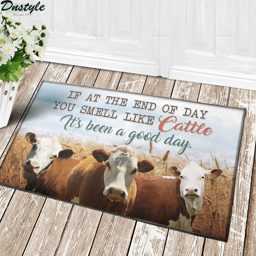 Hereford Cattle if at the end of day you smell like cattle doormat 1