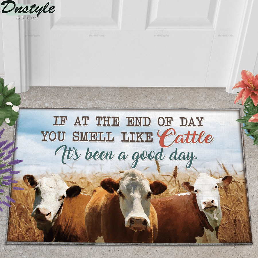 Hereford Cattle if at the end of day you smell like cattle doormat