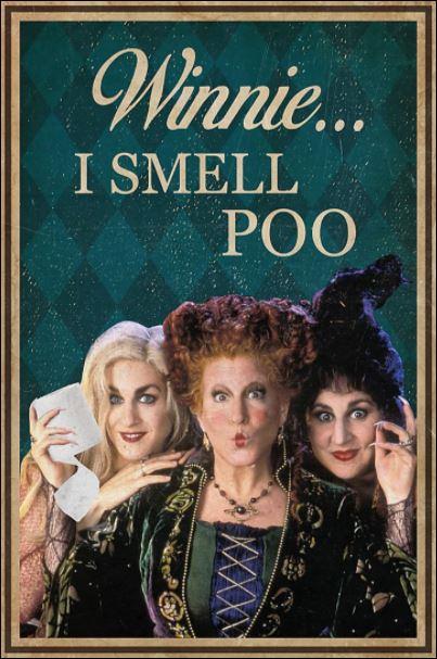 Hocus Pocus Winnie i smell poo poster