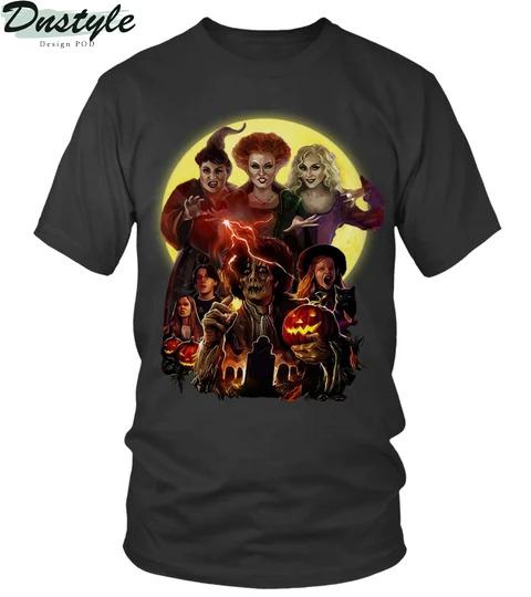 Hocus pcus Three Witches Happy Halloween Shirt