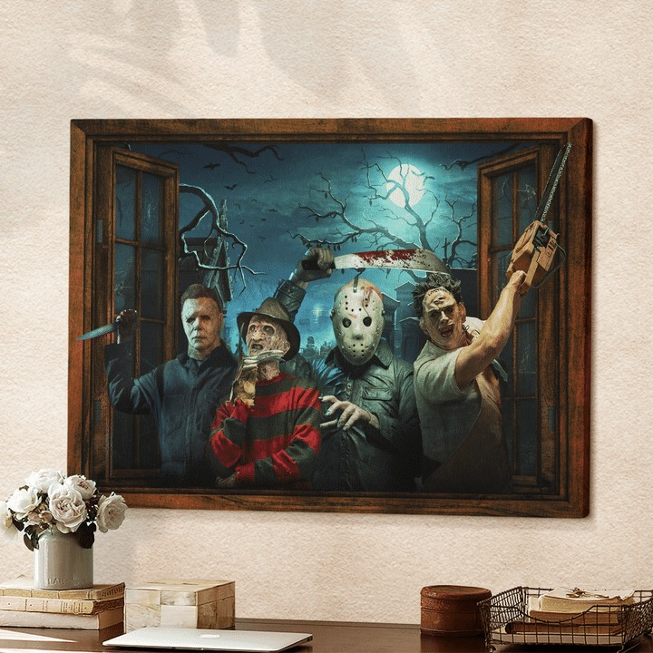 Horror Character Windows poster and canvas 1