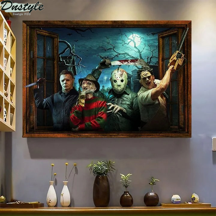 Horror Character Windows poster and canvas