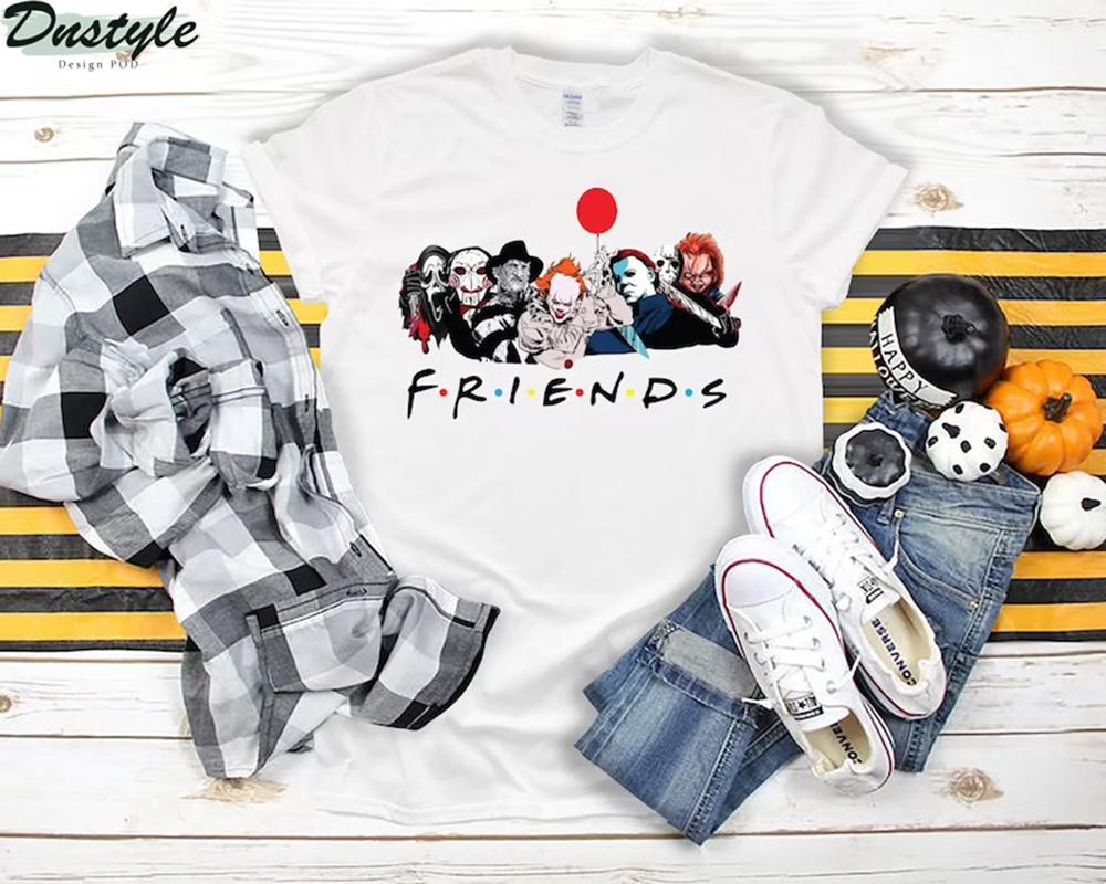 Horror movies friends tv show shirt 1