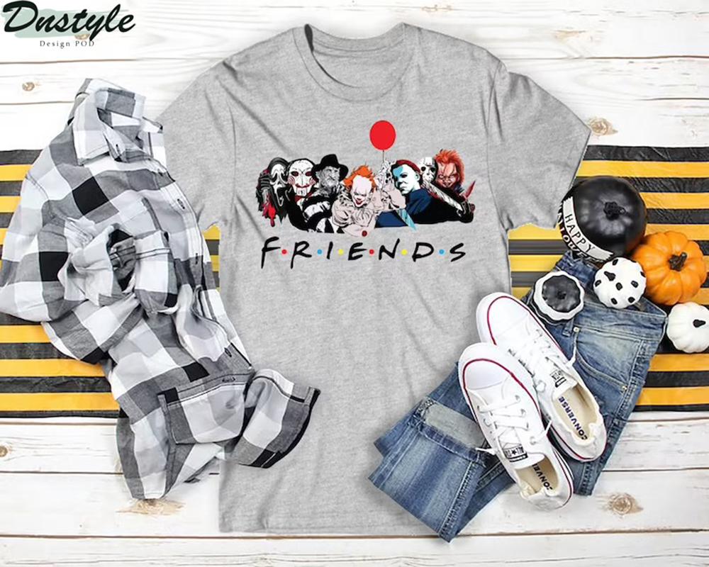 Horror movies friends tv show shirt 3