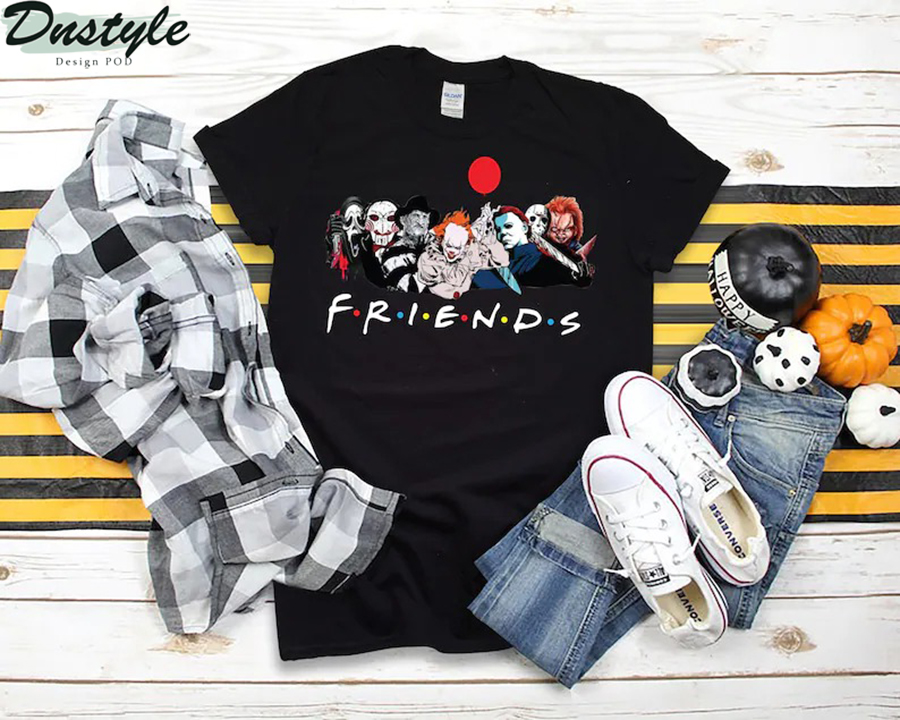 Horror movies friends tv show shirt