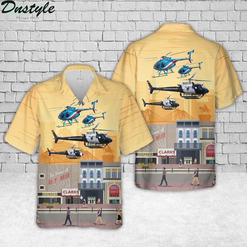Houston Police Department Helicopter Hawaiian Shirt