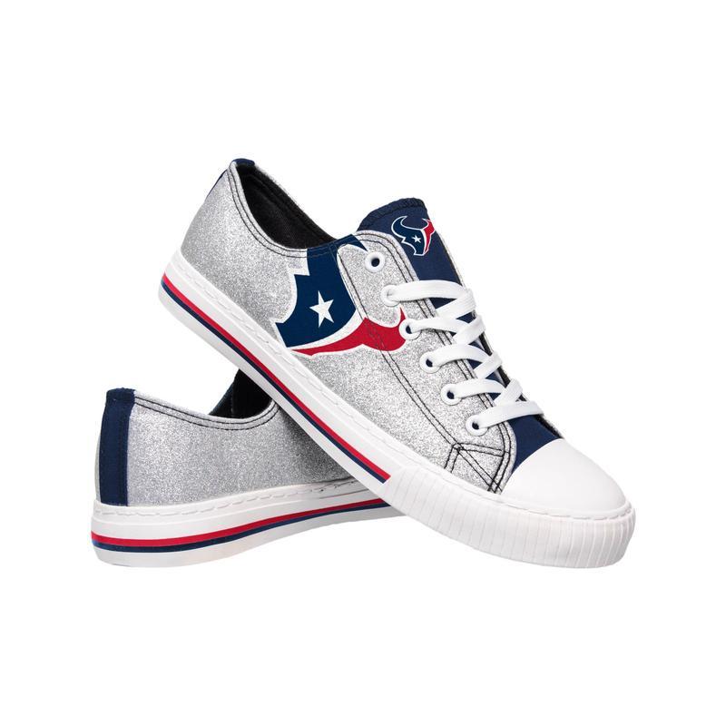 Houston texans NFL glitter low top canvas shoes 2