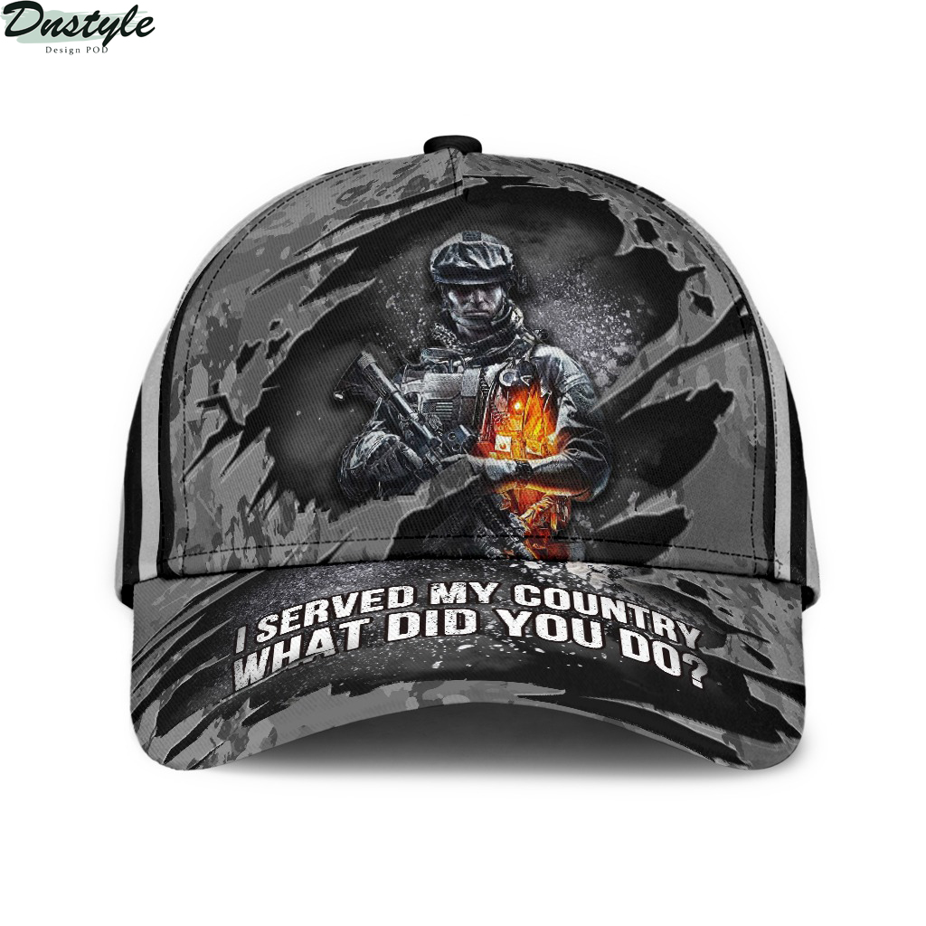 I served my country what did you do veteran hat cap
