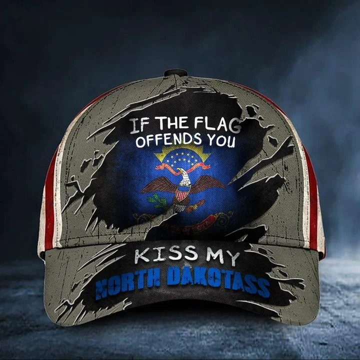 If the flag offends you kiss my North Dakotass classic cap hat