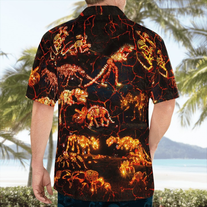 In to the park dinosaurs halloween hawaiian shirt 2