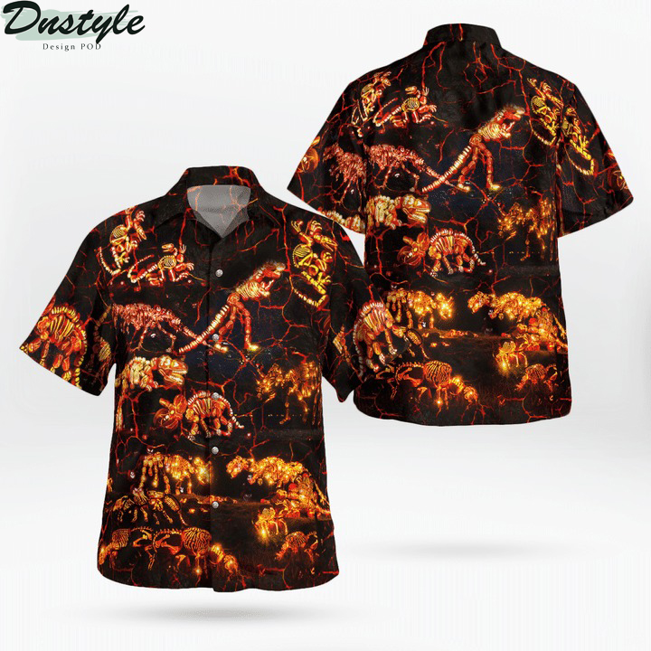 In to the park dinosaurs halloween hawaiian shirt