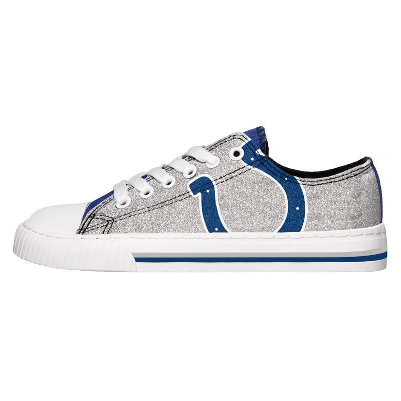 Indianapolis colts NFL glitter low top canvas shoes 1