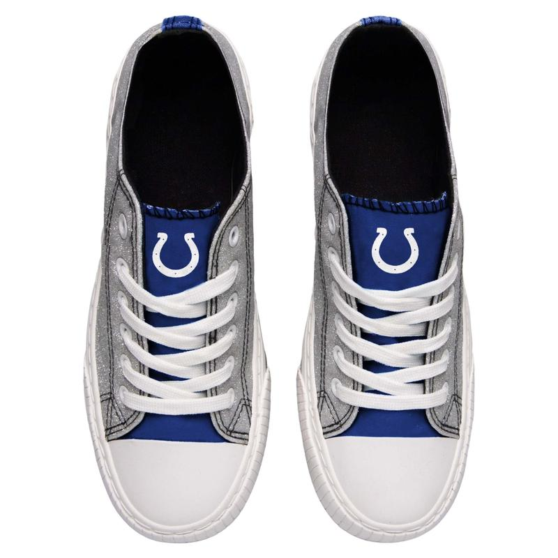 Indianapolis colts NFL glitter low top canvas shoes 2