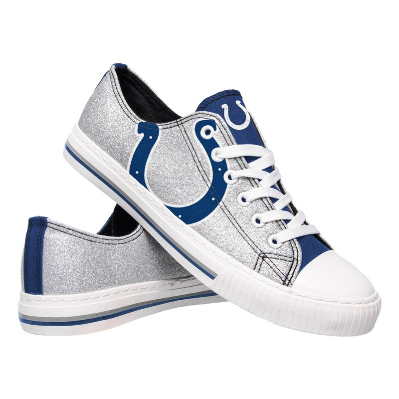 Indianapolis colts NFL glitter low top canvas shoes
