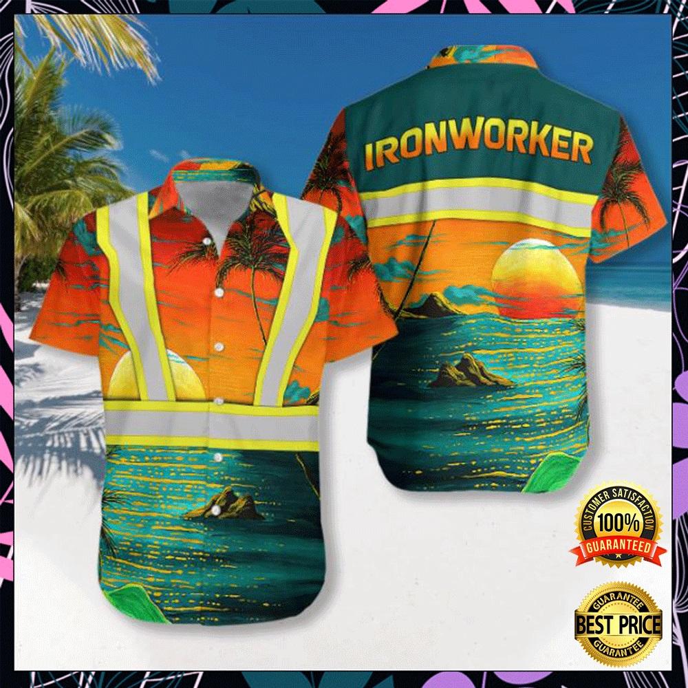 Ironworker tropical hawaiian shirt