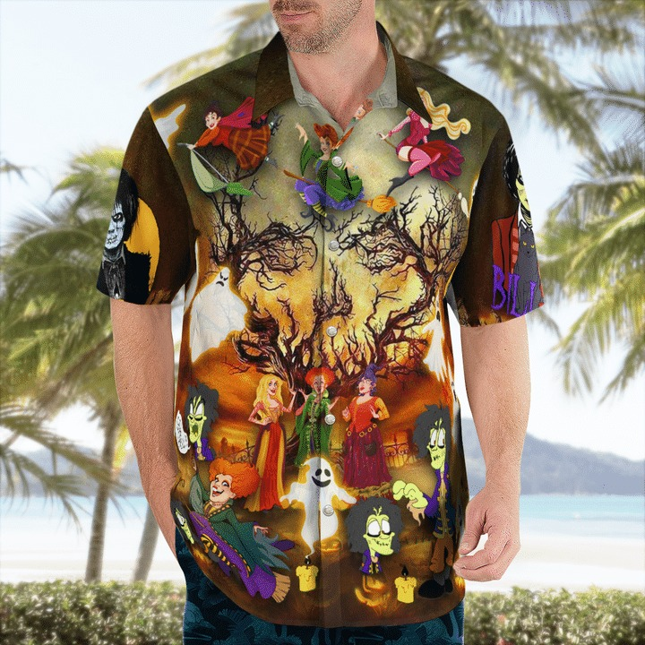 It's time to hocus pocus yahhhooo hawaiian shirt 1