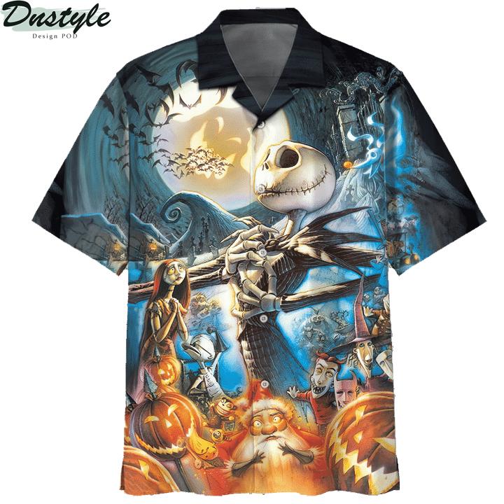 Jack skelington halloween 3d printed hoodie and hawaiian shirt 5