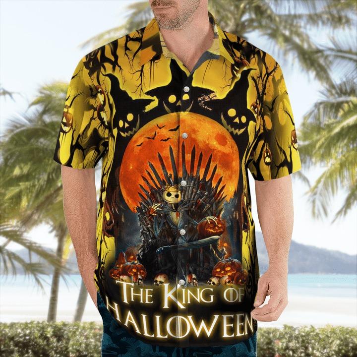Jack skellington the king of halloween hawaiian shirt 1