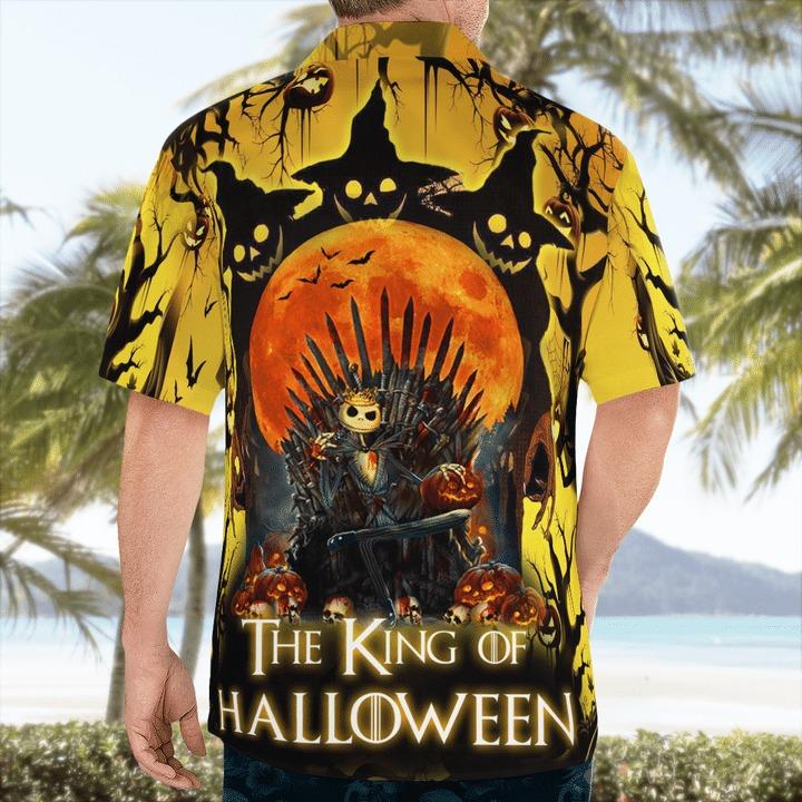 Jack skellington the king of halloween hawaiian shirt 2