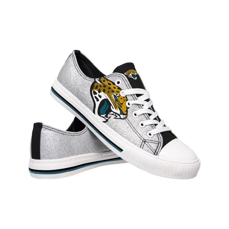 Jacksonville jaguars NFL glitter low top canvas shoes