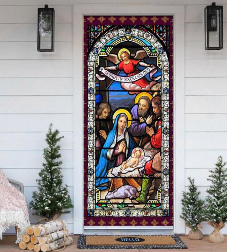 Jesus Christ family door cover