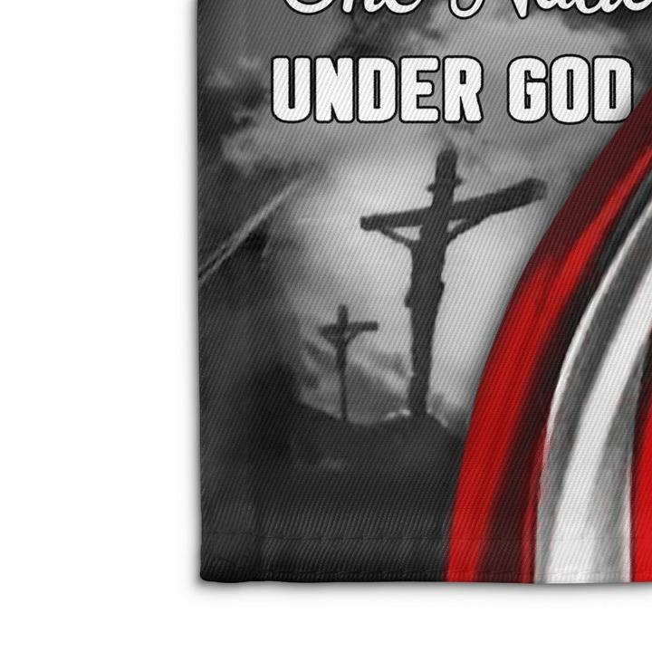Jesus one nation under god house and garden flag 3