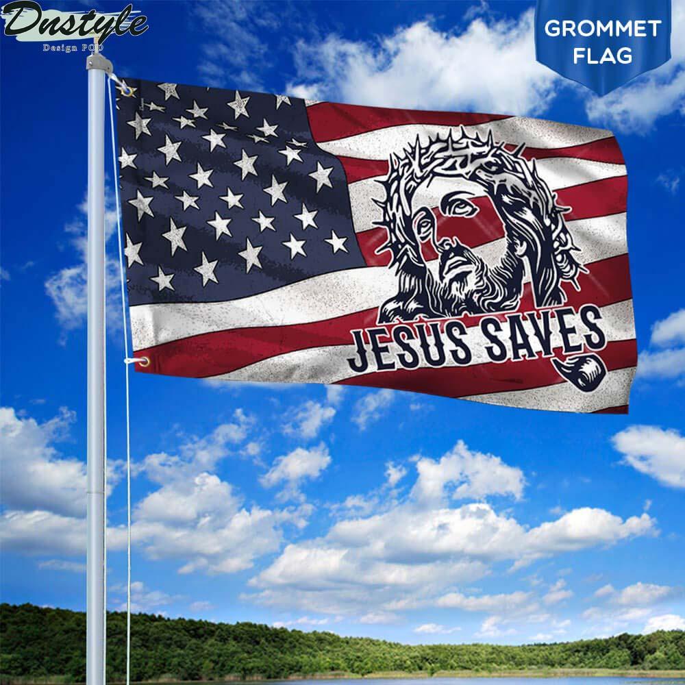 Jesus saves american flag