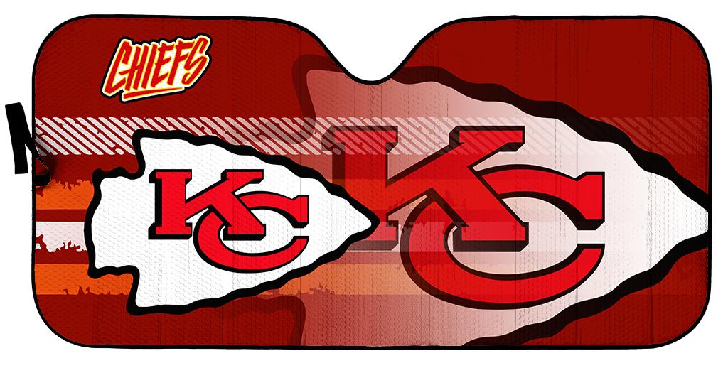 Kansas City Chiefs NFL car sunshade 1