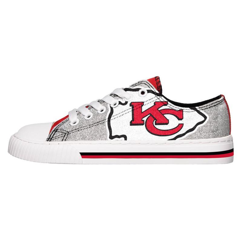Kansas city chiefs NFL glitter low top canvas shoes 1