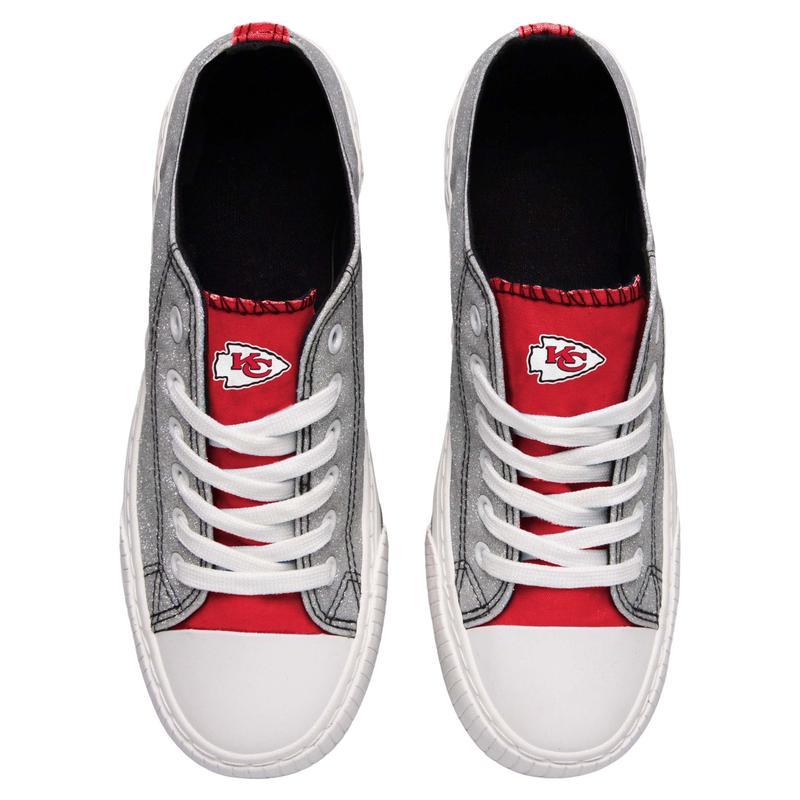 Kansas city chiefs NFL glitter low top canvas shoes 2