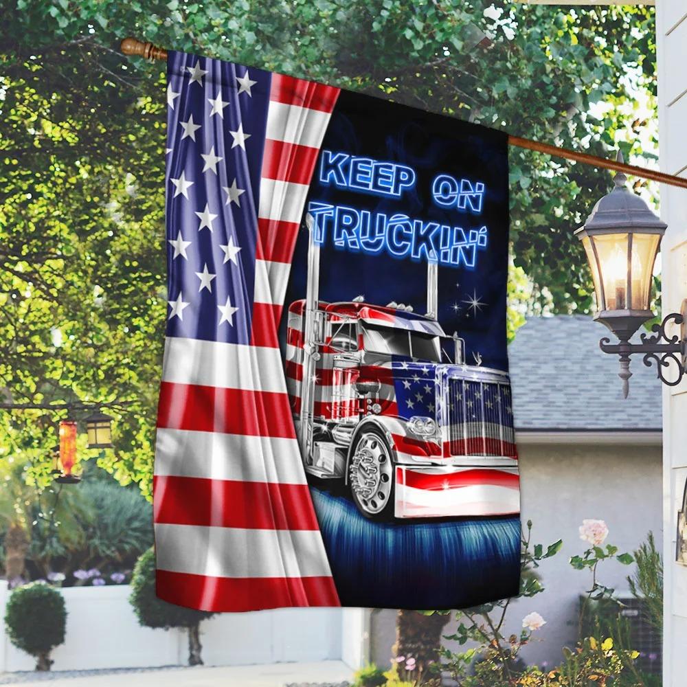 Keep On Truckin American Flag 1