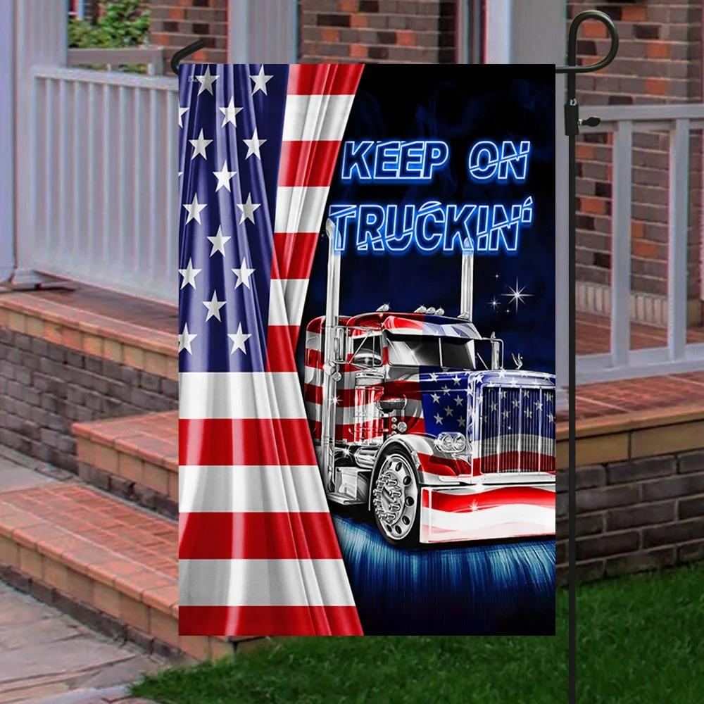 Keep On Truckin American Flag 2