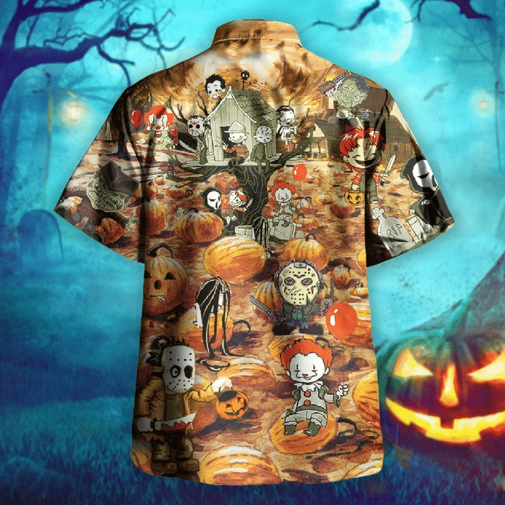 Killing by the pumpkin patch halloween hawaiian shirt 1