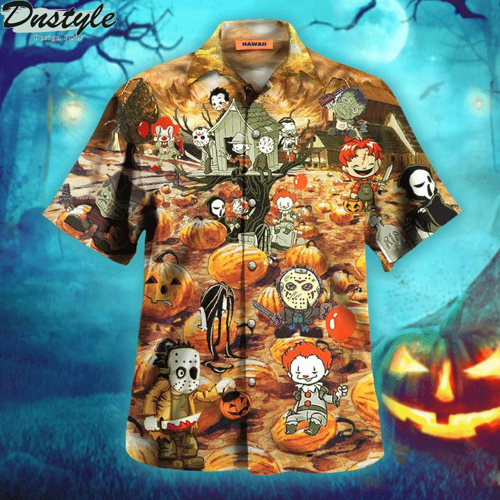 Killing by the pumpkin patch halloween hawaiian shirt