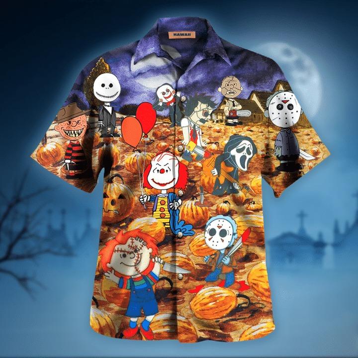 Killing under the moonlight halloween hawaiian shirt 1