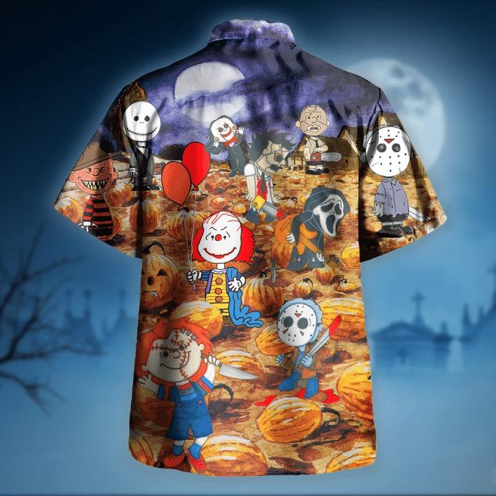 Killing under the moonlight halloween hawaiian shirt 2