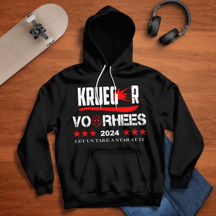 Krueger voorhees 2024 let us take a Stab At It hoodie